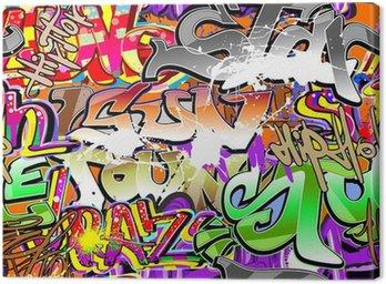 Graffiti urban art seamless background Canvas Print