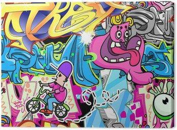 Graffiti Urban Art Vector Background Canvas Print