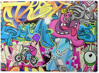 Graffiti Urban Art Vector Background Canvas Print