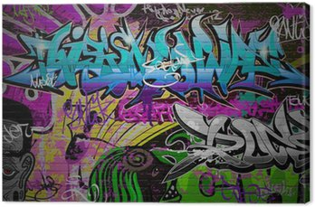 Canvas Print Graffiti wall urban art background