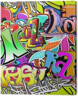 Canvas Print Graffiti wall. Urban art vector background. Seamless pattern