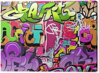Canvas Print Graffiti wall. Urban art vector background. Seamless texture