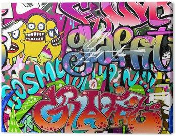 Graffiti wall. Urban art vector background. Seamless texture Canvas Print