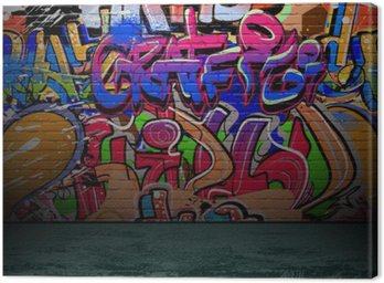 Graffiti wall urban street art painting Canvas Print