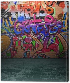 Canvas Print Graffiti wall urban street art painting