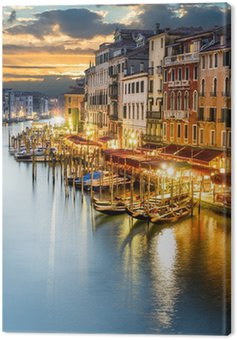 Grand Canal at night, Venice Canvas Print