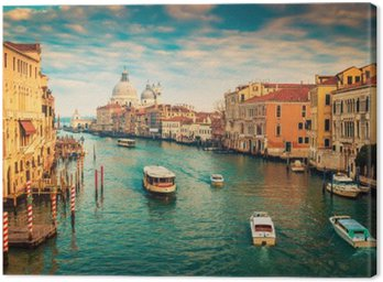 Canvas Print Grand Canal in Venice, Italy. Color filter applied.