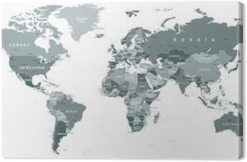 Grayscale world map borders countries and cities illustration grayscale world map borders countries and cities illustration highly detailed gray vector illustration gumiabroncs Choice Image