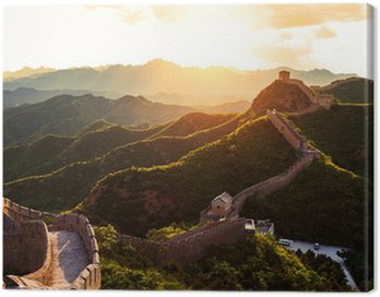 Great wall under sunshine during sunset