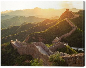 Canvas Print Great wall under sunshine during sunset