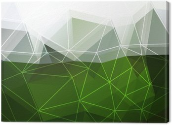 Canvas Print Green abstract background