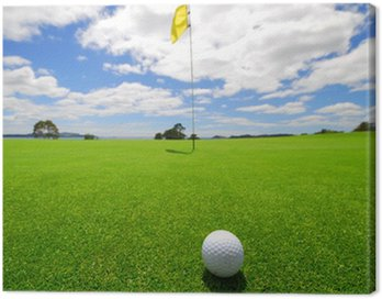 Canvas Print Green on beautiful Golf Course