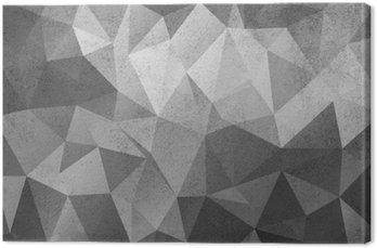 Canvas Print Grunge black&white polygonal vintage old background.
