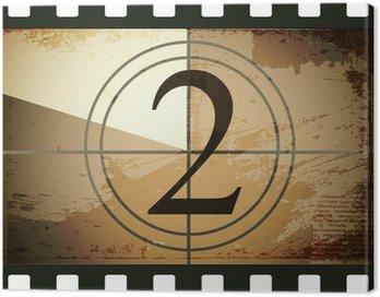 Canvas Print Grunge film countdown