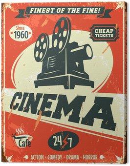 Canvas Print Grunge retro cinema poster. Vector illustration.