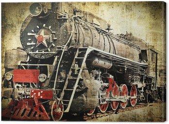Canvas Print Grunge steam locomotive