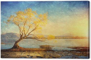 Canvas Print Grunge styled lanscape