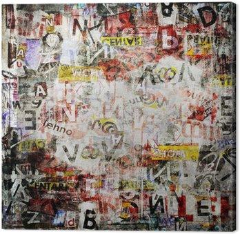 Canvas Print Grunge textured background