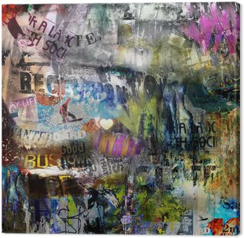 Canvas Print grungy style torn poster background