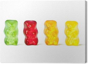 Canvas Print gummy bears
