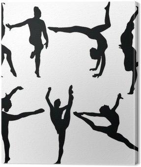 Canvas Print gymnastics collection 2 - vector