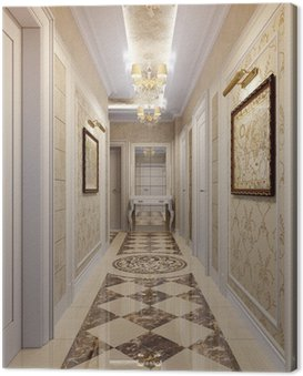 Canvas Print Hallway in luxury style