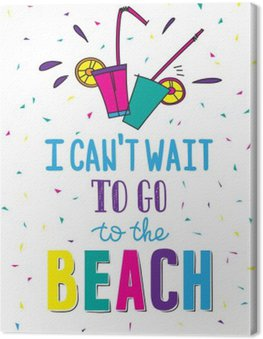 Canvas Print Hand drawn summer poster with quote