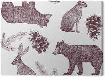 hand drawn winter trendy seamless background