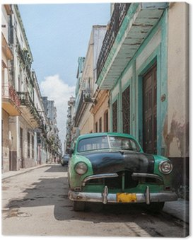 Canvas Print Havana old school car
