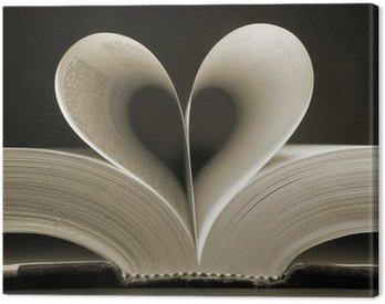 heart shaped book Canvas Print