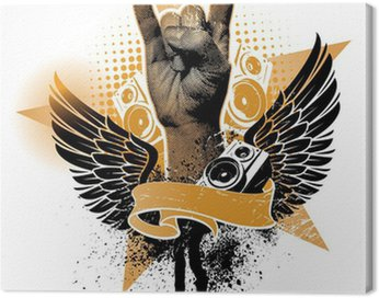 Canvas Print Heavy metal hand sign