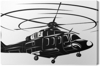 Canvas Print helicopter1-bw