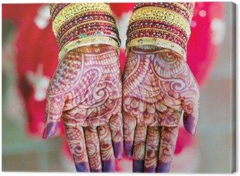 Canvas Print henna wedding design