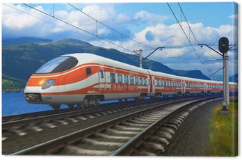 Canvas Print High speed train