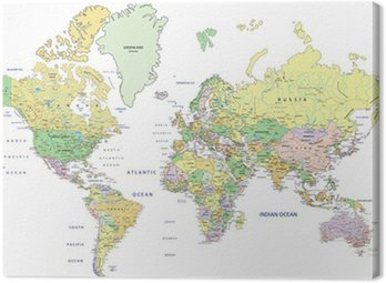 Pixers world map of the canvas map wall art old world map canvas political maps canvas prints the geographic motifs pixers on map wall art retro world gumiabroncs Images