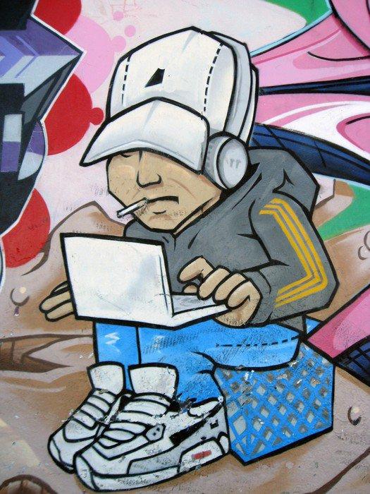 Canvas Print hip hop hacker - Themes