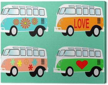 Canvas Print Hippie van volkswagen T1 camper vector