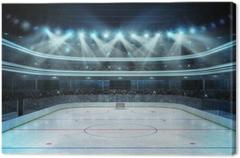 Canvas Print hockey stadium with spectators and an empty ice rink