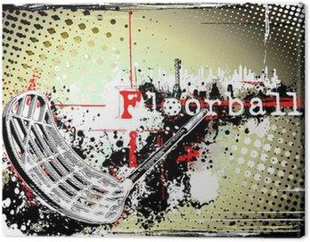 Canvas Print horizontal dirty floorball poster