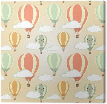 Canvas Print Hot air balloons pattern