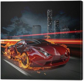 Canvas Print Hot car