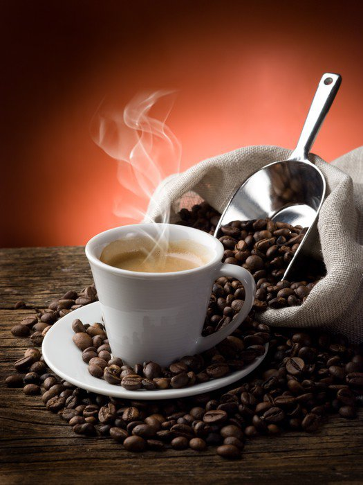 Canvas Print hot coffee - caffe fumante - Coffee