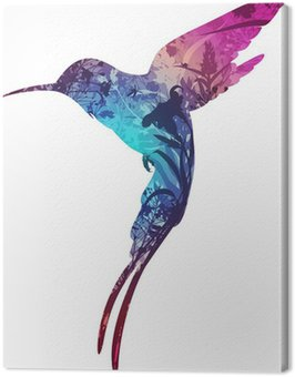Canvas Print humming-bird