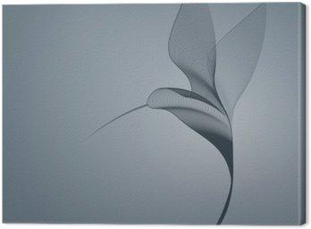 Hummingbird dark lines Canvas Print