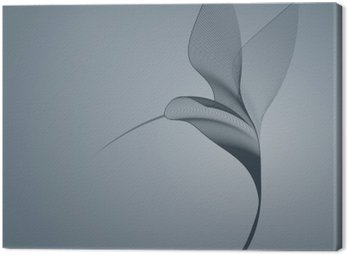 Canvas Print Hummingbird dark lines