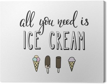 Canvas Print Ice cream shop promotion motivation advertising