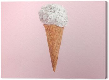 icecream cone on pink background