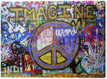 Imagine Lennon Wall Graffiti