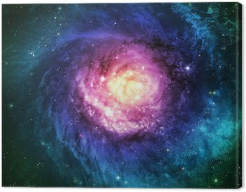 Canvas Print Incredibly beautiful spiral galaxy somewhere in deep space
