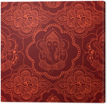 Indian seamless pattern with ornament Canvas Print